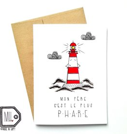 Made in Happy Carte de souhait - Phare