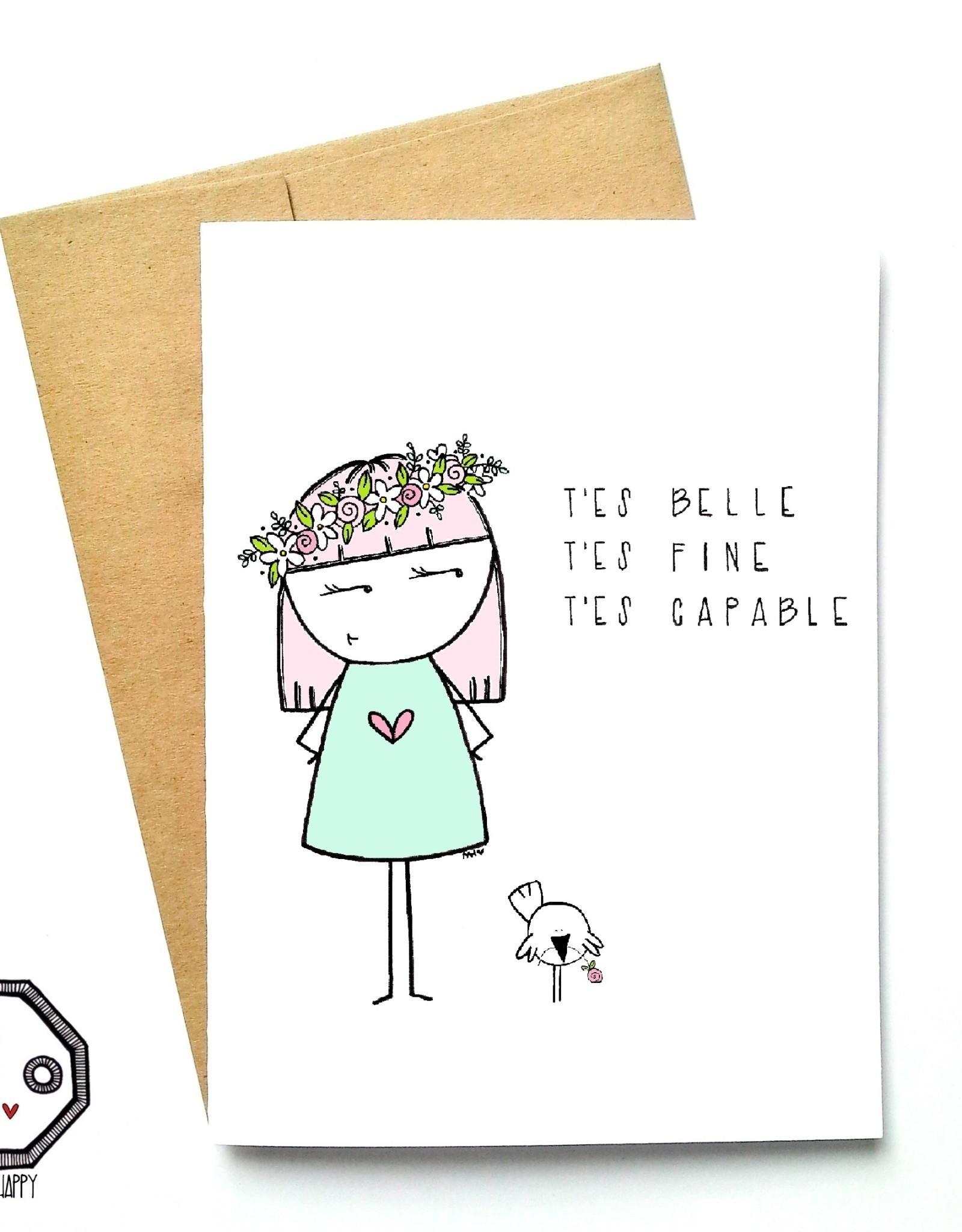 Carte de souhait - Belle Fine Capable