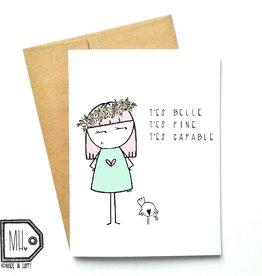 Made in Happy Carte de souhait - Belle Fine Capable