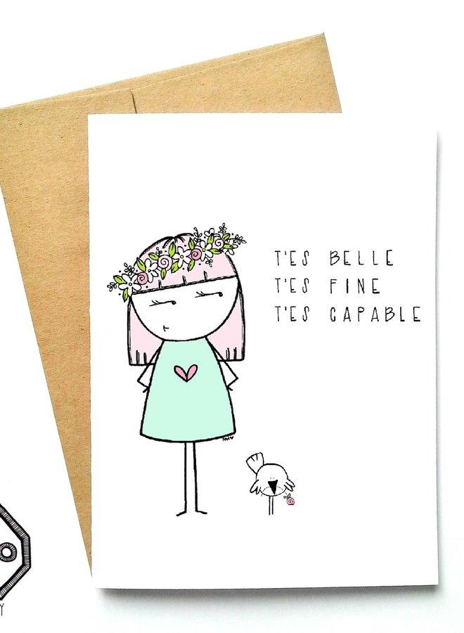 Carte de souhaits - Belle Fine Capable