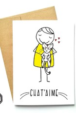 Made in Happy Carte de souhait - Chat'aime
