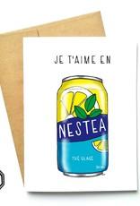 Made in Happy Carte de souhait - Je t'aime en Nestea