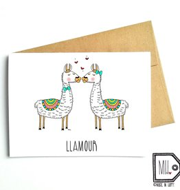 Carte de souhaits - Llamour