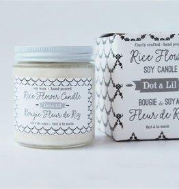 Dot & lil Bougie de soya - Fleur de riz
