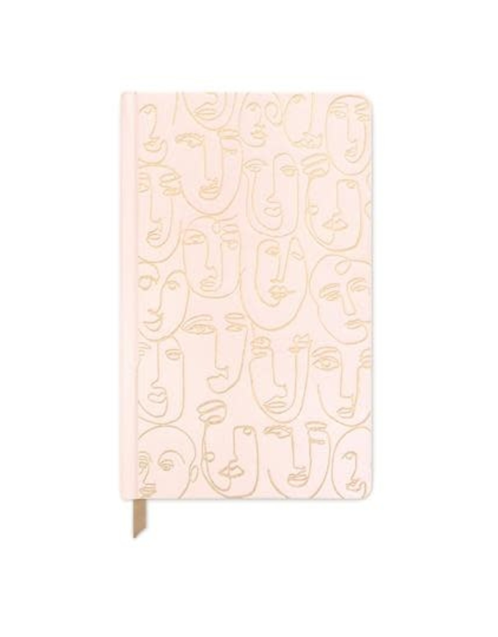 Cahier de notes 6x8 - Visage rose