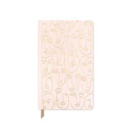 Cahier de notes 6x8 - Visage rose