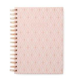 Cahier de notes 6x8 - Rose géométrique