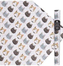 Papier d'emballage - Meow Meow - Ens. de 3