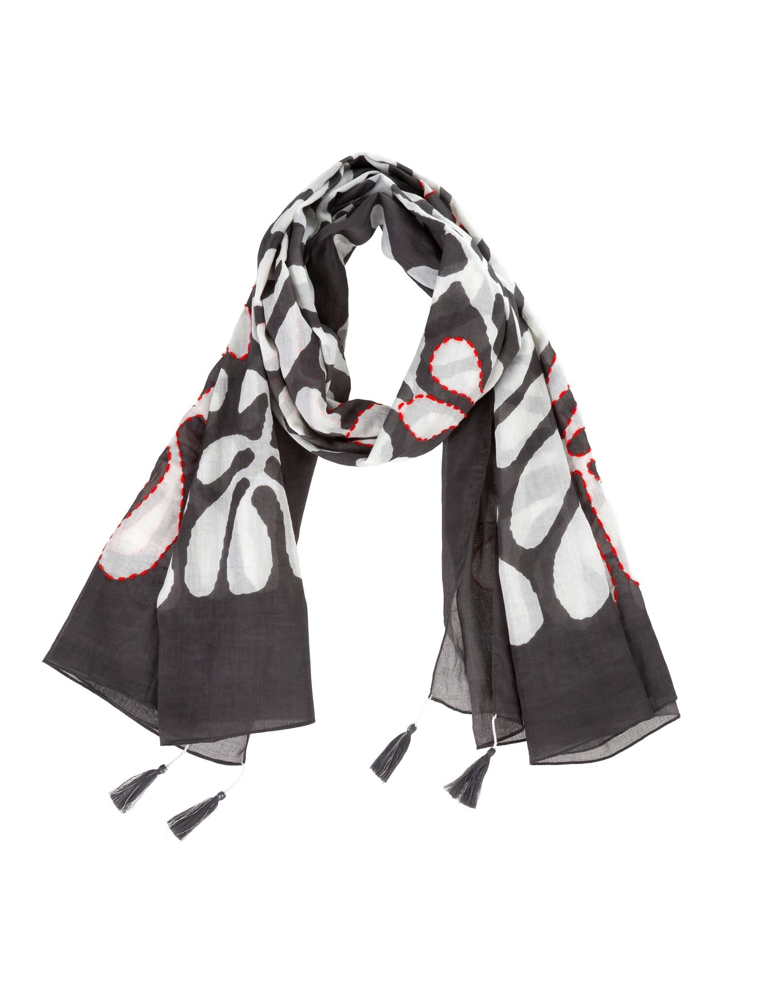 Foulard Palmier - Taupe