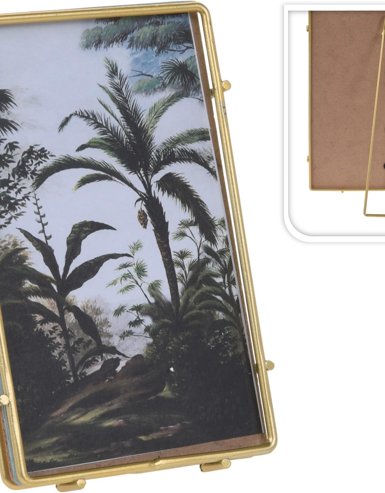 Cadre photo 5x3 - Laiton avec appui