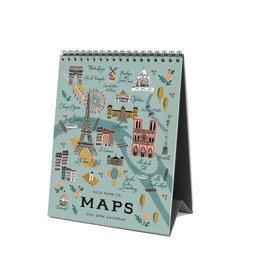 Rifle paper co. Calendrier de table - Grandes villes 8'' x 6 ''