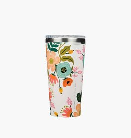 Corkcicle Gobelet 16oz - Rifle Paper Co. - Floral crème
