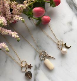 """Flora Ciccarelli Collier 18"""" en gold-filled avec deux breloques avec anneaux (220-203)"""