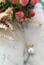 """Flora Ciccarelli Collier 26"""" avec perle forme goutte et lune (220-208)"""