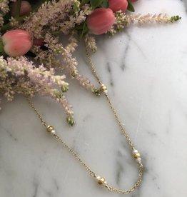 """Flora Ciccarelli Collier 15"""" avec 4 rondelles et perles d'eau douce (220-211)"""
