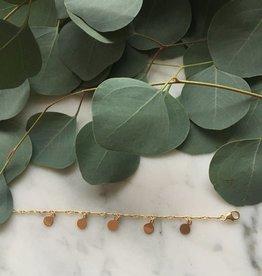 Flora Ciccarelli Bracelet en chaîne marquise gold-filled avec disques en gold-filled (118-001)