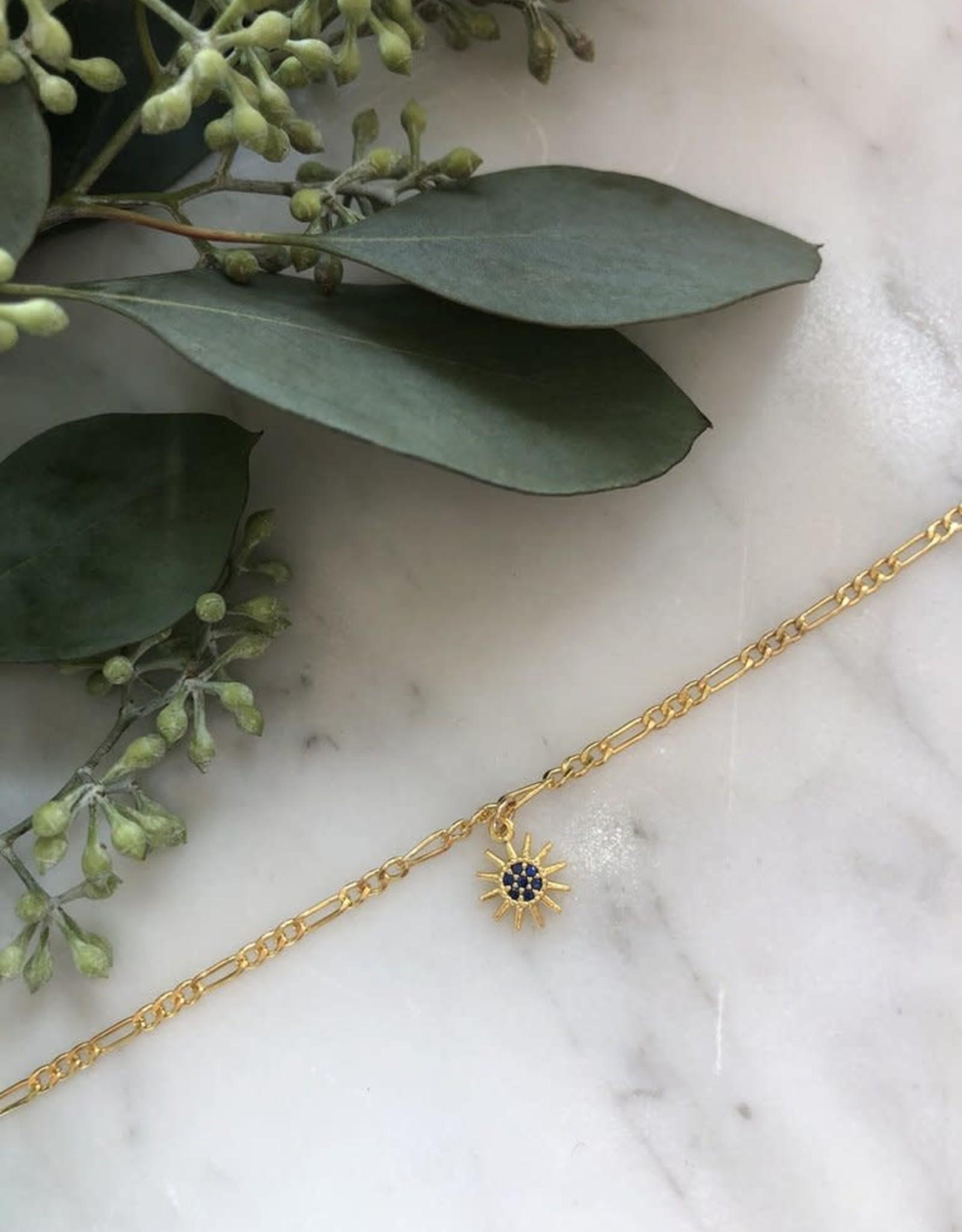Flora Ciccarelli Bracelet chaîne figaro et soleil (219-001)