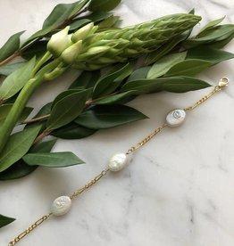 Flora Ciccarelli Bracelet avec perles (pastilles) ovales (120-001)