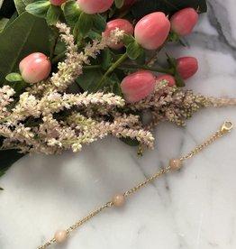 Flora Ciccarelli Bracelet avec 3 pierres d'opale rose ronde (220-001)