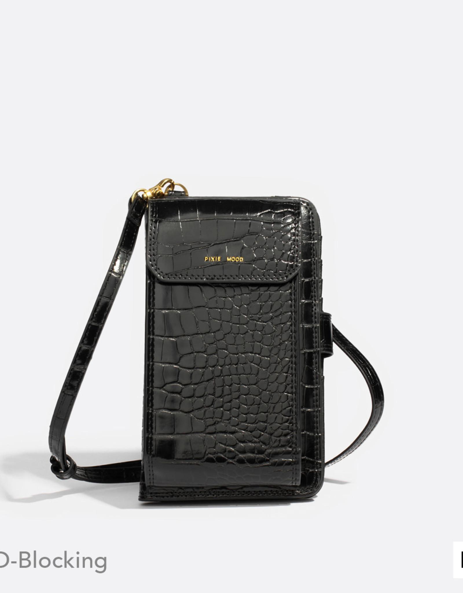 Pixie mood - Sac bandoulière pour téléphone - Rae - Noir croco