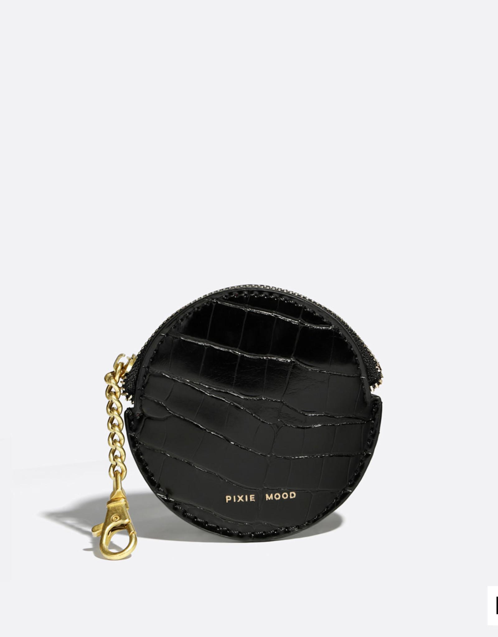 Pixie Mood Porte-monnaie Monica - Noir croco