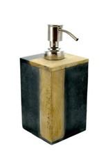 Pompe à savon - Pierre et bois