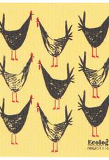 Essuie-tout réutilisable - Coq jaune