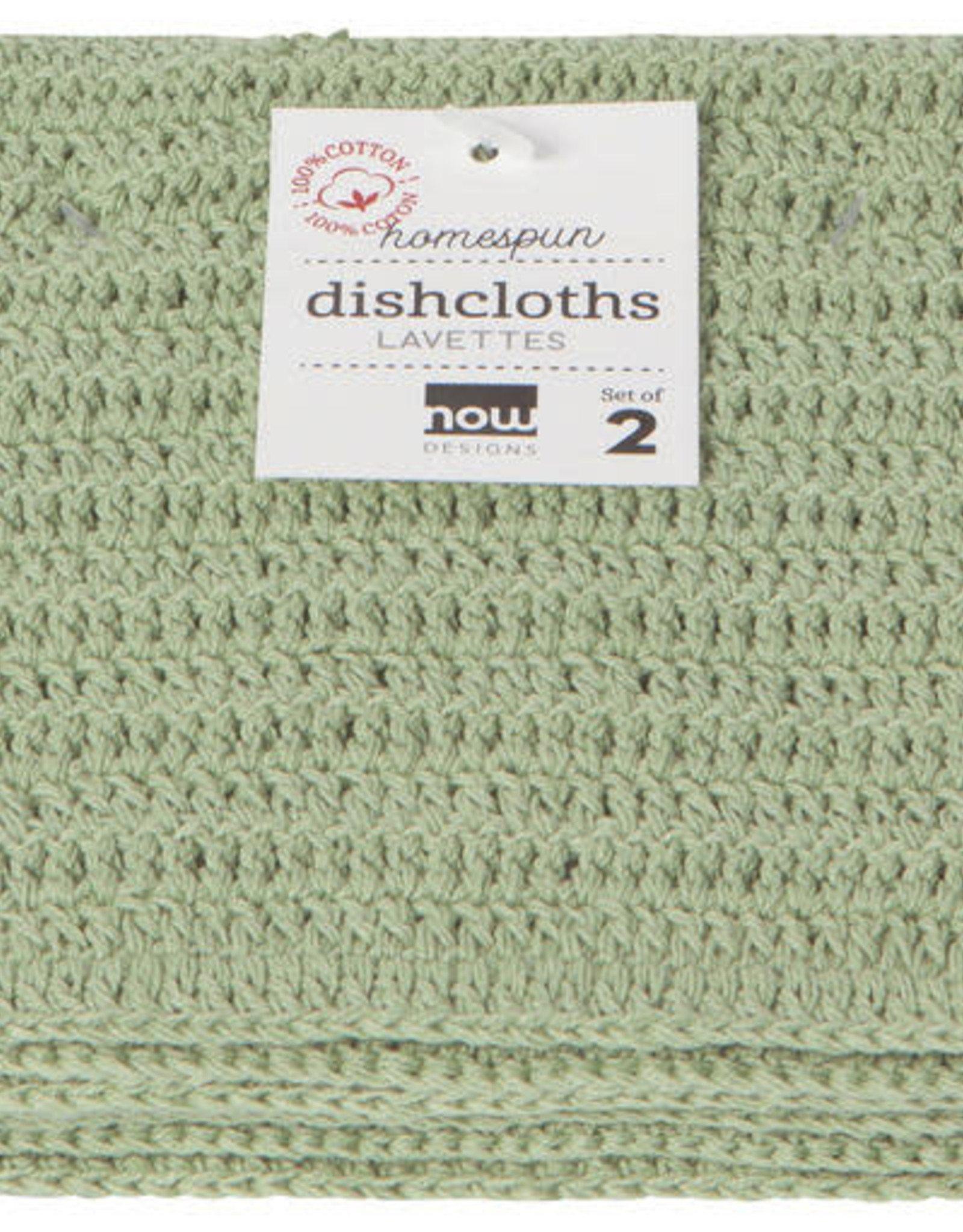 Lavettes - Crochet sauge - ens. de 2