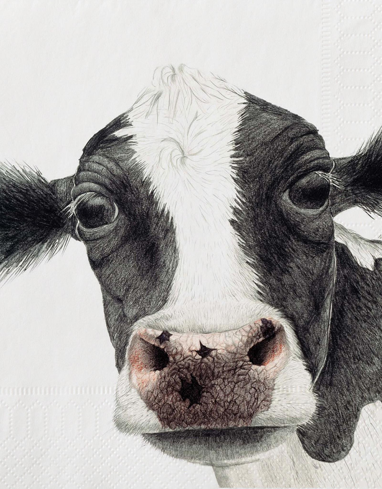 Serviettes de papier - Vache