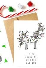 Made in Happy Carte de souhait - Licorne Noël magique