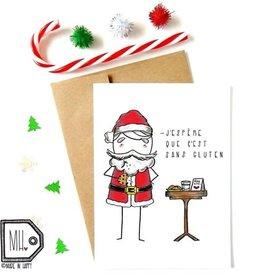 Made in Happy Carte de souhait - Père Noël sans gluten