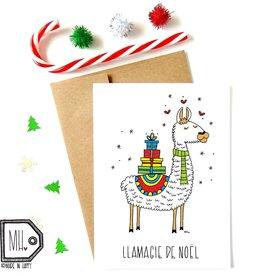 Made in Happy Carte de souhait - Llamagie de Noël
