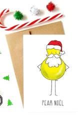 Made in Happy Carte de souhait - Pear Noël