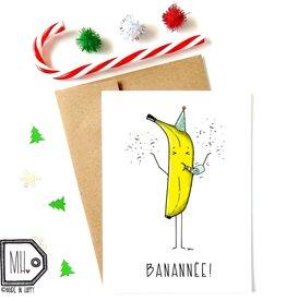 Made in Happy Carte de souhait - Banannée!