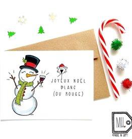 Made in Happy Carte de souhait - Noël blanc (ou rouge)