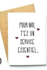 Made in Happy Carte de souhait - Service essentiel