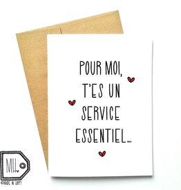 Carte de souhait - Service essentiel