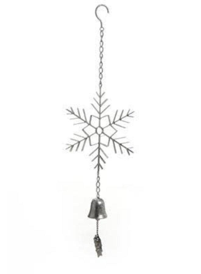 Cloche - Flocon de neige - Argent