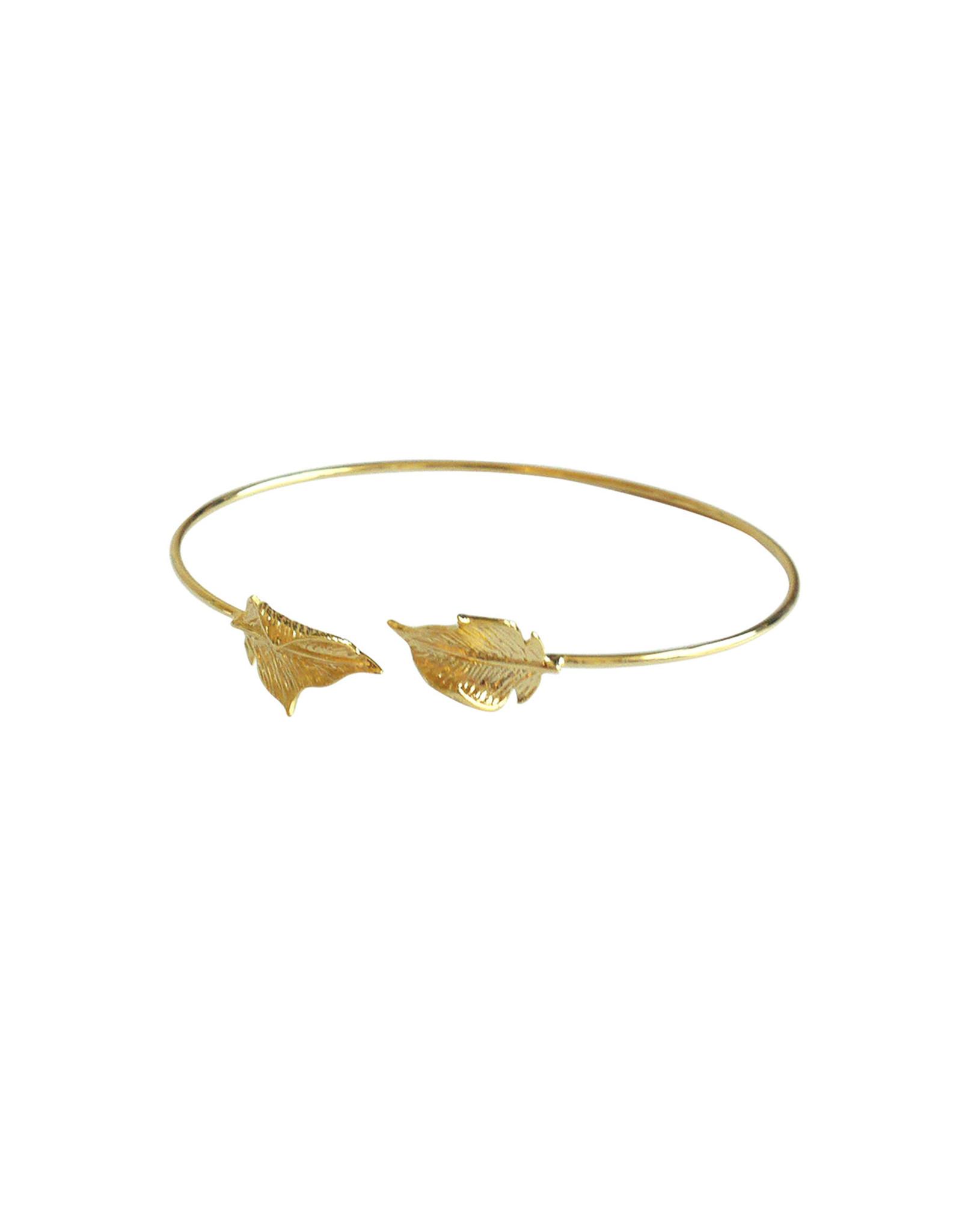 Lost & Faune Bracelet rigide - Feuilles - Or