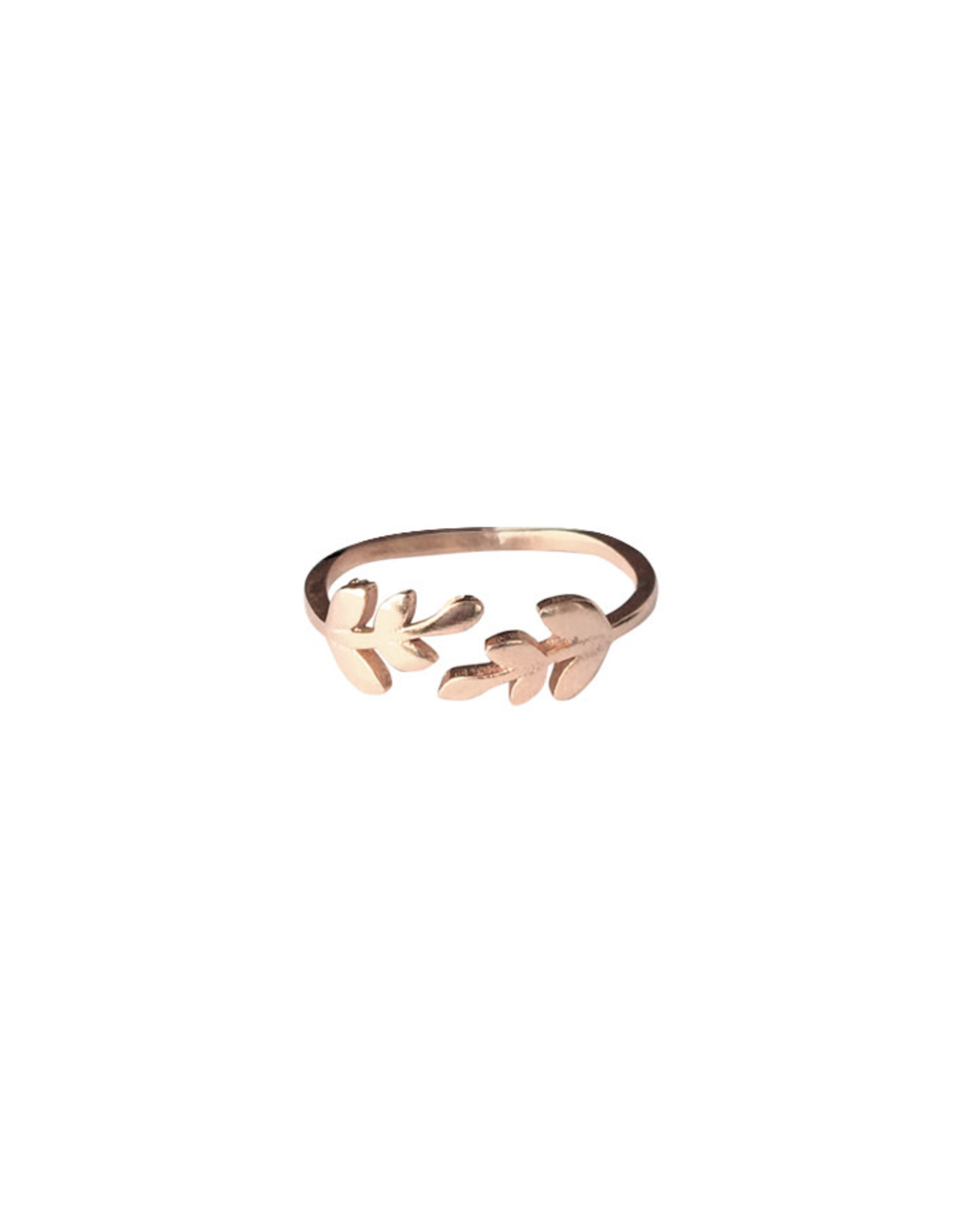 Lost & Faune Bague - Duo de branches - Or rose