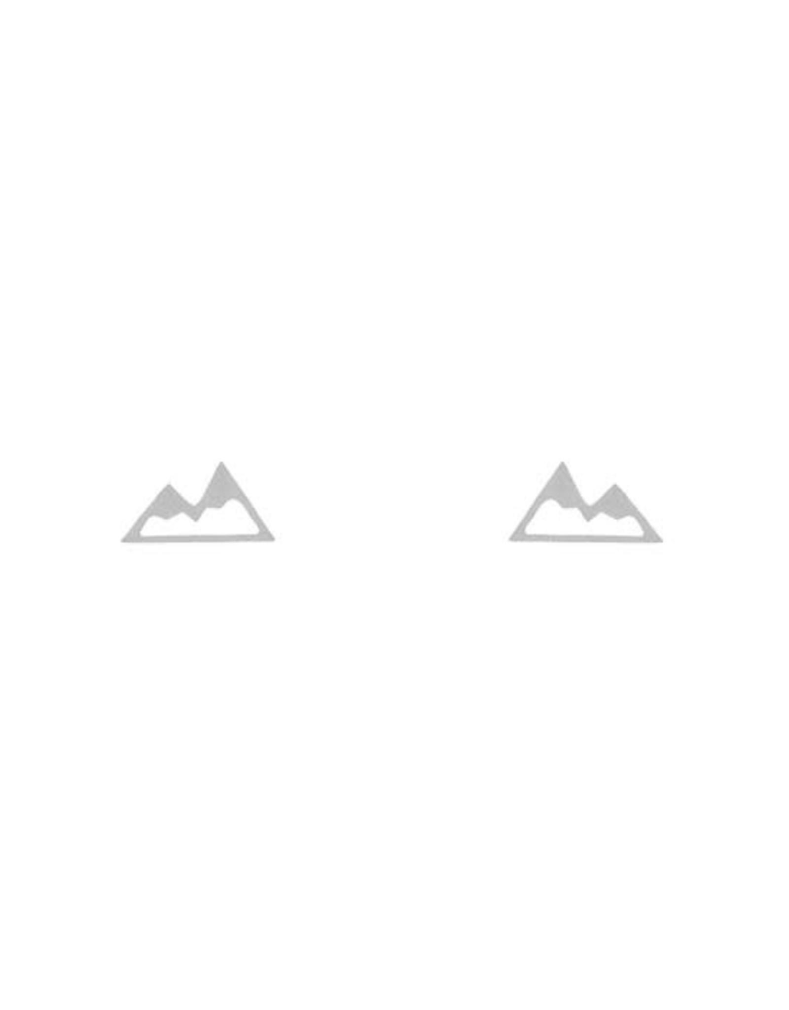 Lost & Faune Boucles d'oreilles - Montagne - Argent