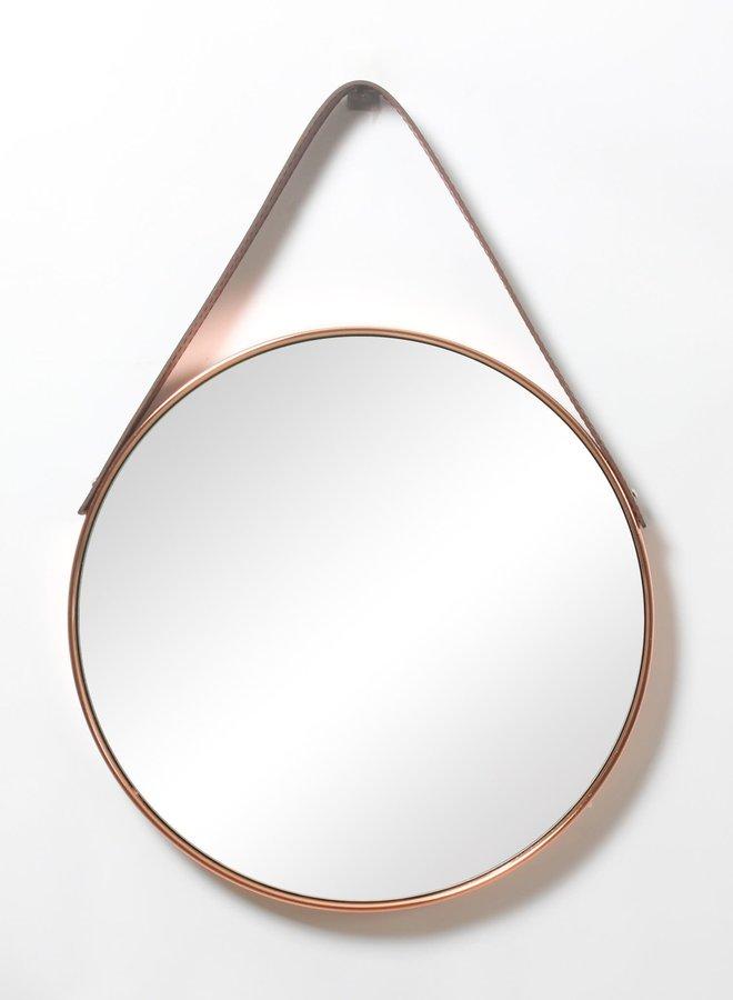 Miroir - Ganse en vinyle - Cuivre