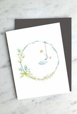 Carte de souhait - Couronne & lune