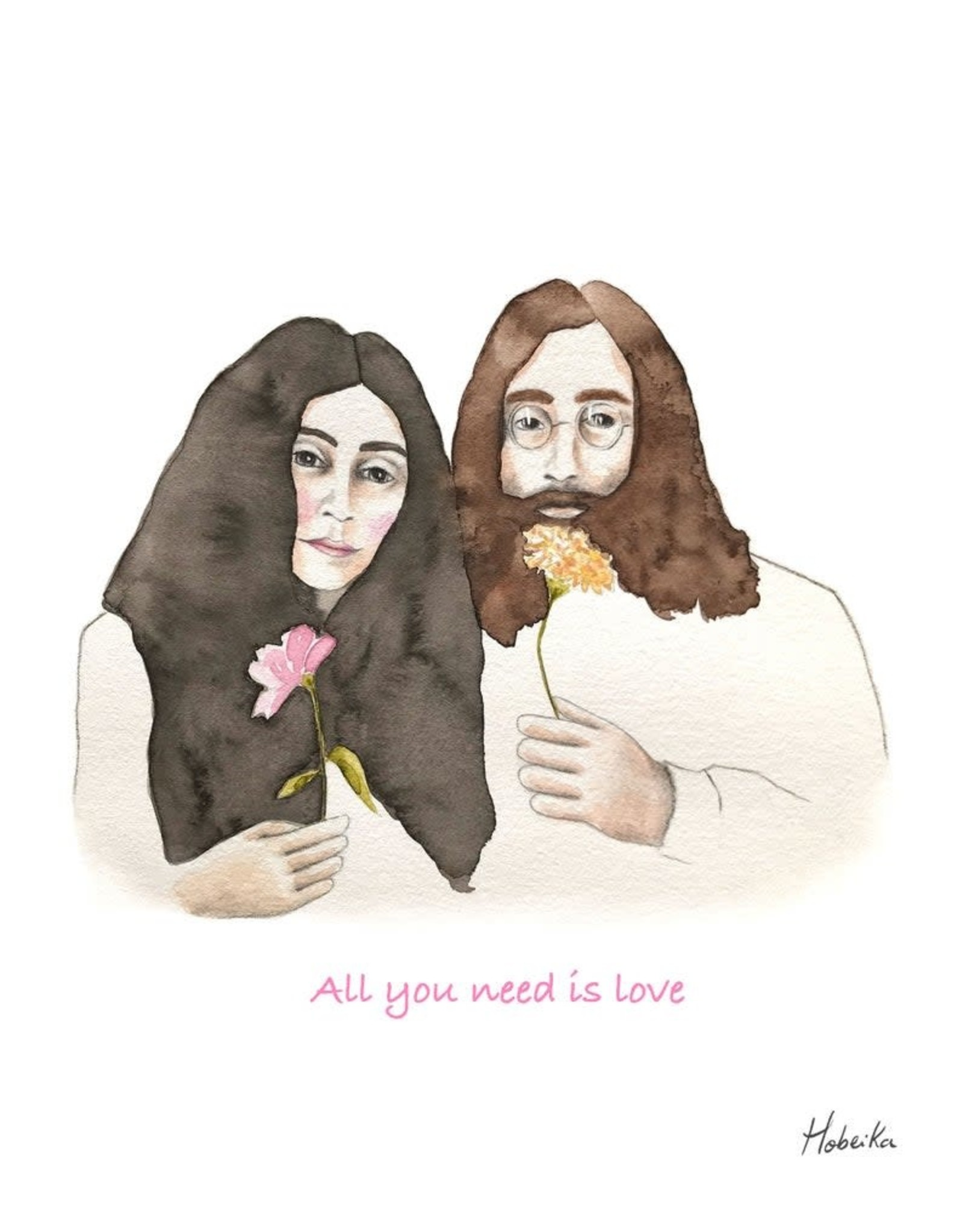Affiche 8x10 - John & Yoko