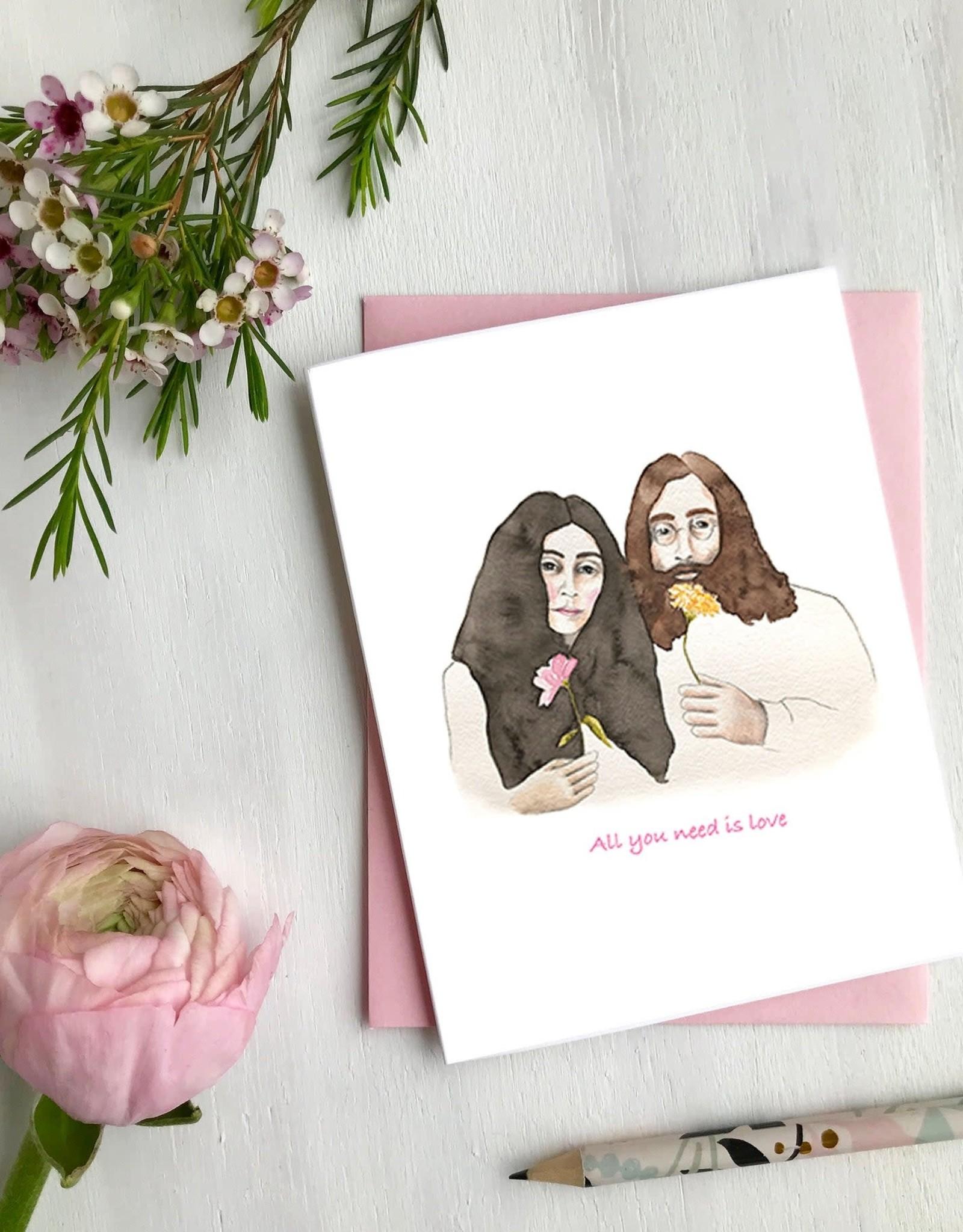 Carte de souhaits - John et Yoko