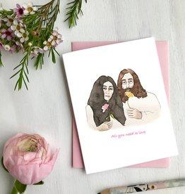 Carte de souhait - John & Yoko