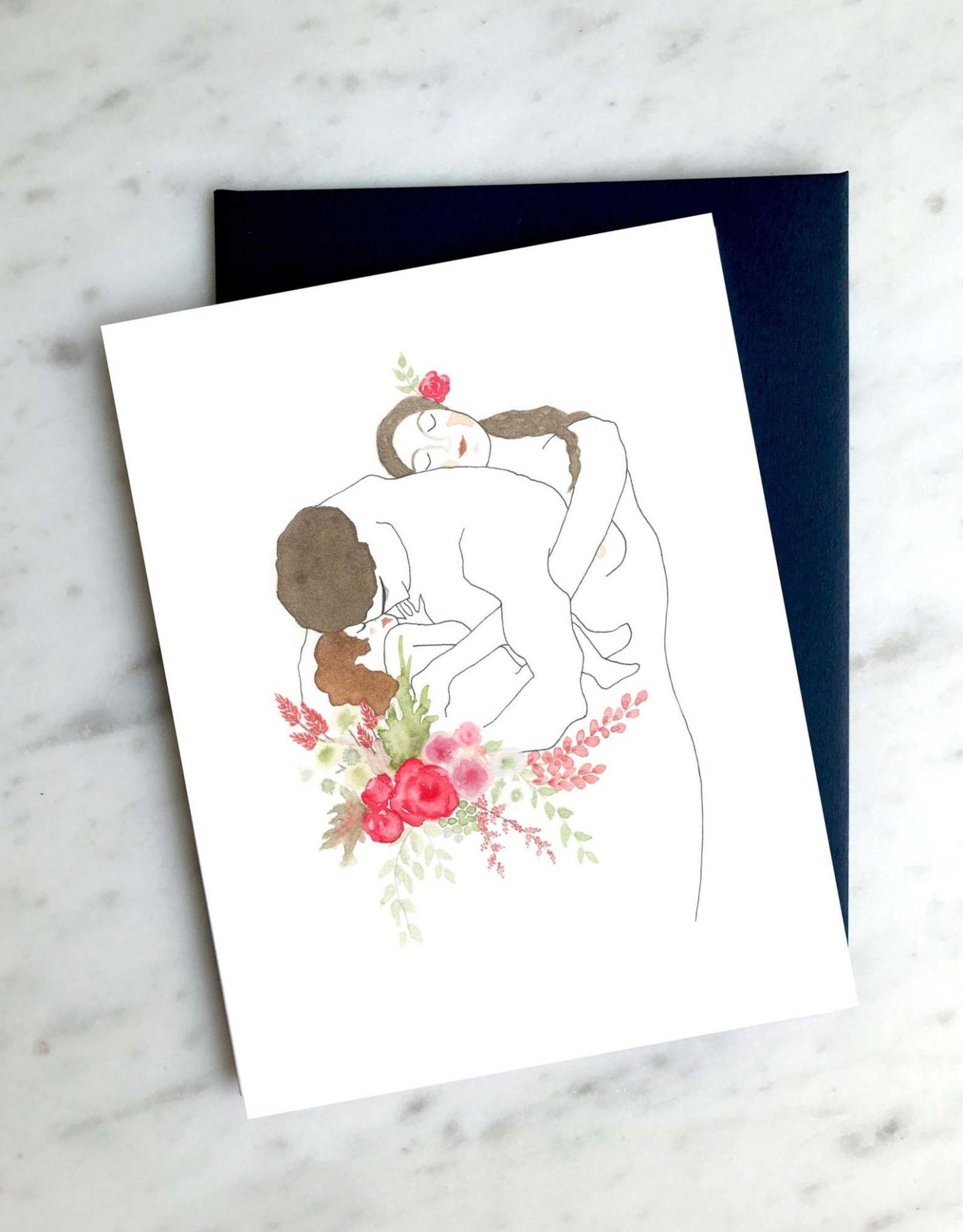 Carte de souhait - Klimt Famille