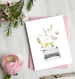 Carte de souhait - Mots d'amour