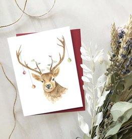 Carte de Noël  - Cerf rigolo