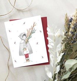 Carte de Noël  - Petite fille